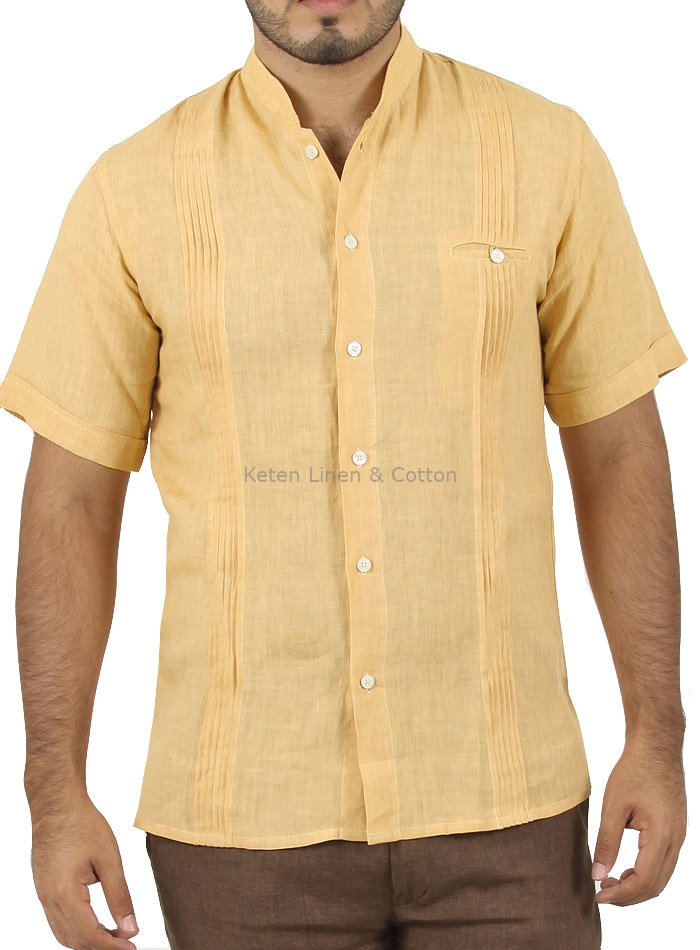 Casual Yellow Linen Shirt SHIRTS ... d8c5f8d60
