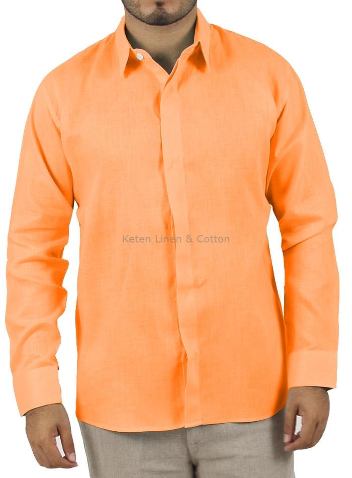 58923f807b Camisa de Hombre Manga Larga Naranja CAMISAS ...
