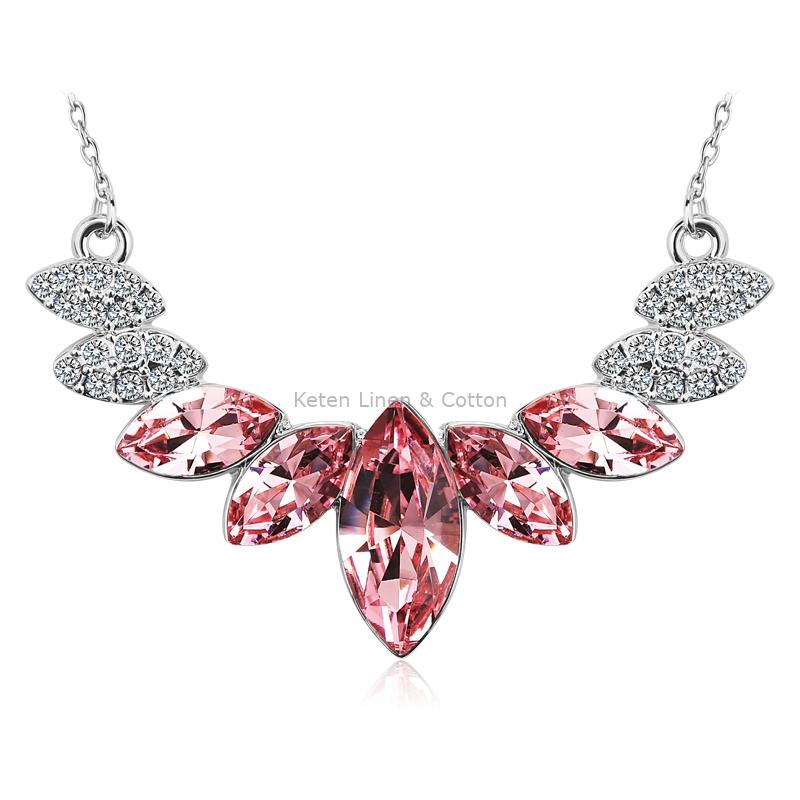 d6426b9099b4 Elegante Collar de Swarovski color Rosa