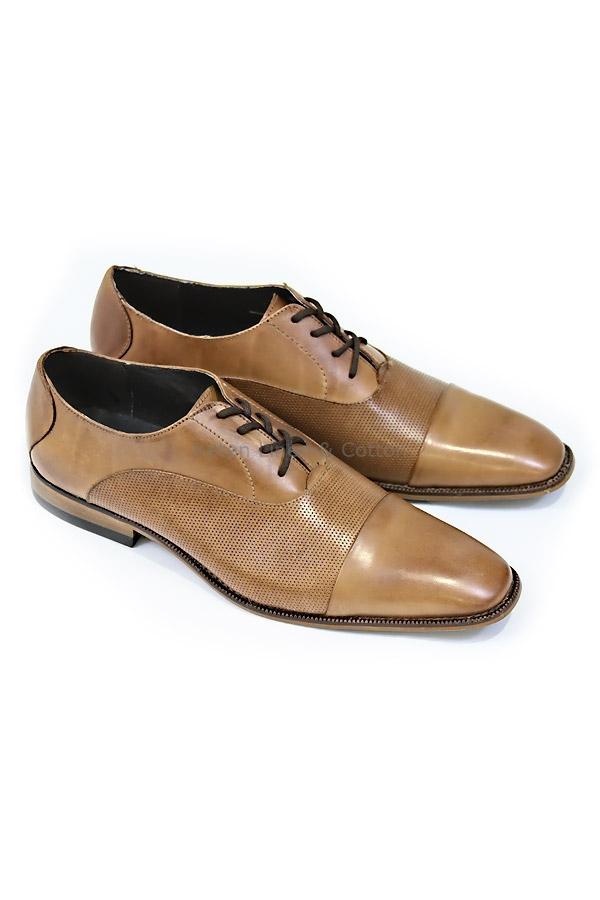 8a0832d0cce Zapato Para Vestir Piel Color Maple Cafe