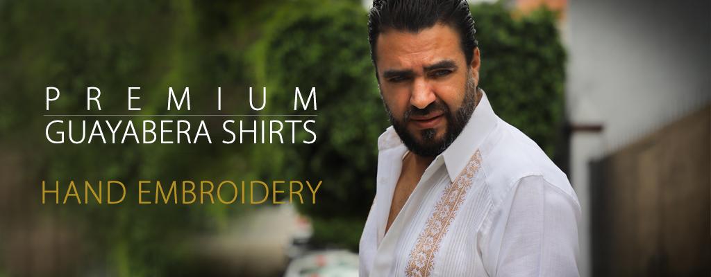 Premium Guayabera Shirts - Hand Embroidery