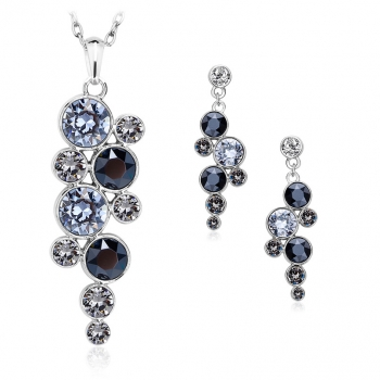 Pretty Swarovski Circles Set JEWELRY