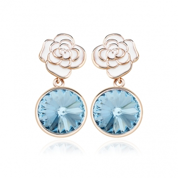 Blue Swarovski Crystal Earrings JEWELRY