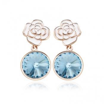 Aretes de Cristal Swarovski Azul JOYERIA
