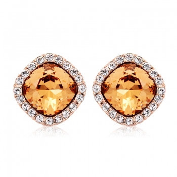 Precious Swarovski Earrings in Yellow JEWELRY