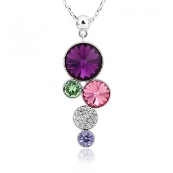 Collar de Círculos de Cristal Swarovski JOYERIA