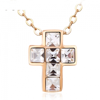 Cross Necklace with Swarovski Crystal JEWELRY