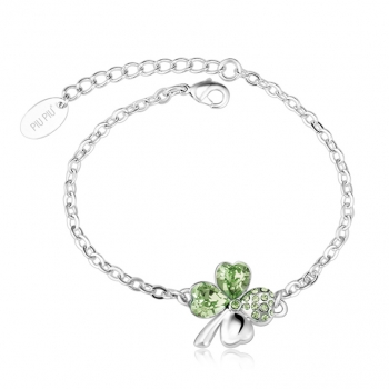 Clover Bracelet with Swarovski Crystal / Colors JEWELRY
