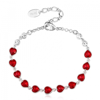 Pretty Red Hearts Bracelet JEWELRY