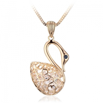 Cute Swan Necklace with Gold Plated JEWELRY