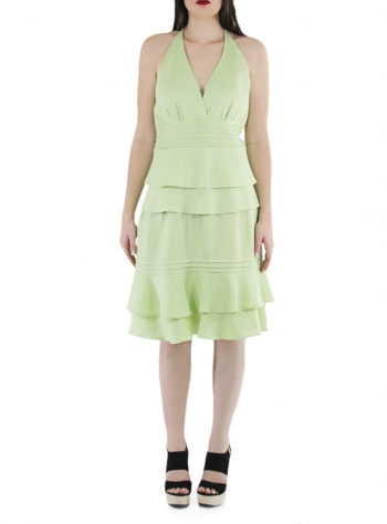 Strapless Green Mojito Linen Dress DRESSES