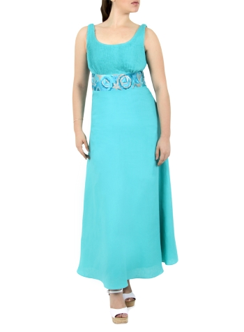 Turquoise Strapless Dress DRESSES