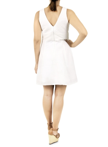 Short Dress with White Pleats DRESSES