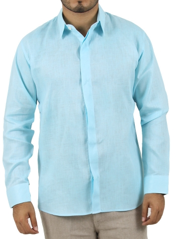 Camisa 100% Lino Lisa Agua CAMISAS