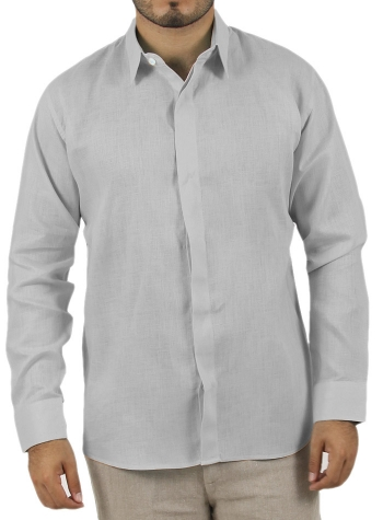 Basic Grey Shirt 100% Linen SHIRTS