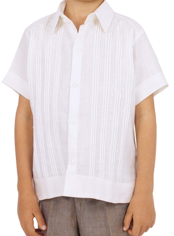 100% Linen Hand Made Shirt (Kids) GUAYABERAS
