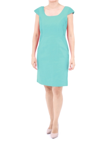 Short Linen Dress Aqua Color DRESSES