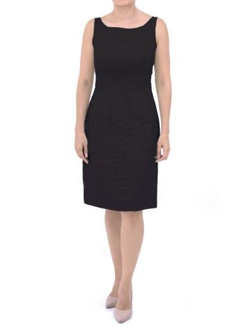 Vestido de Lino Negro Sin Mangas VESTIDOS