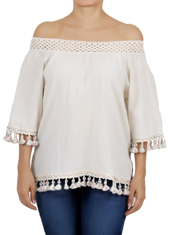 Cotton Shoulder Down Top TOPS