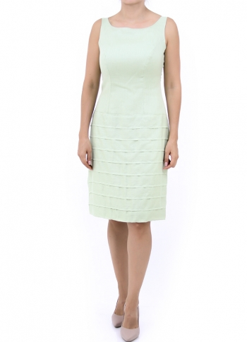 Beautiful Green Short Dress 100% Linen DRESSES