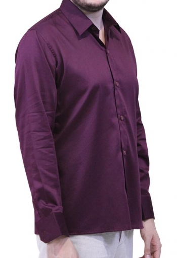 Burgundy Egyptian Cotton Formal Shirt SHIRTS