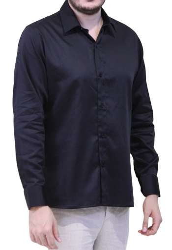 Black Egyptian Cotton Formal Shirt SHIRTS