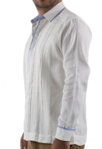 Fashion Guayabera Combined with Blue GUAYABERAS