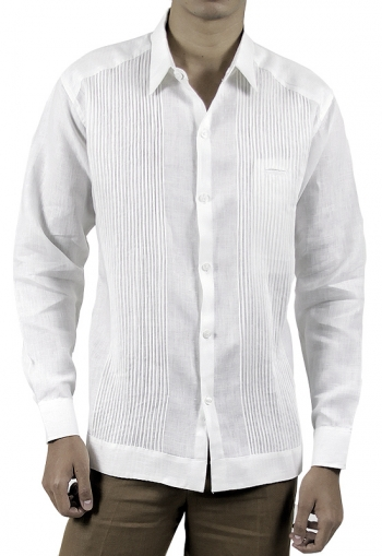 Natural High Quality Linen Presidential Guayabera Shirt GUAYABERAS