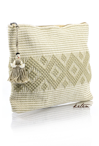 Ivory Handmade Waist Loom Pouch BAGS & POUCHES