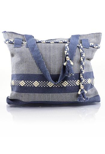 Artisan Made Metalic Blue Waist Loom Handbag BAGS & POUCHES