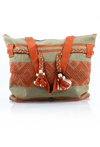 Artisan Made Brown Waist Loom Handbag BAGS & POUCHES