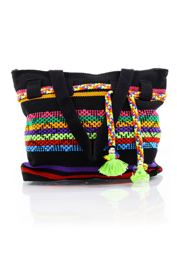 Artisan Made Black & Mix Colors Waist Loom Handbag BAGS & POUCHES