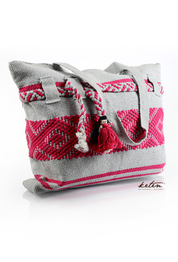 Pink Ethnic Cloth Shoulder Bag Waist Loom BAGS & POUCHES