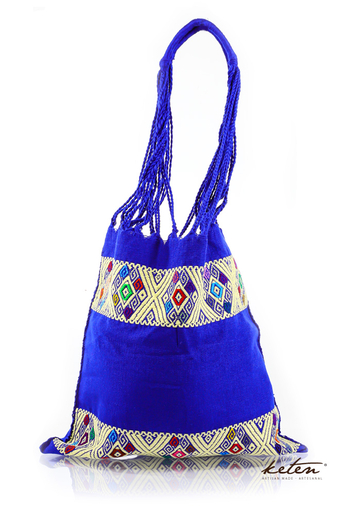 Blue Handwoven Mexican Morral Bag BAGS & POUCHES