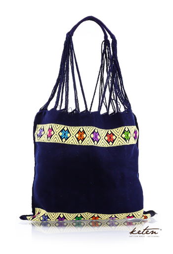Dark Blue Waist Loom Embroidered Hand Bag BAGS & POUCHES