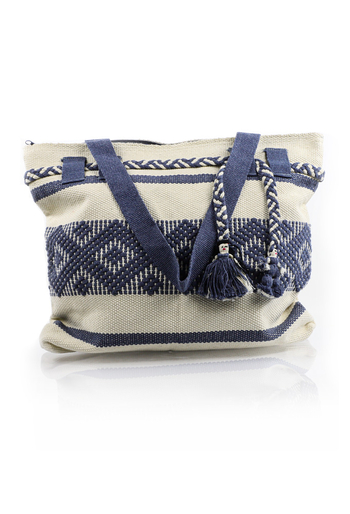 Artisan Made Blue White Waist Loom Handbag BAGS & POUCHES