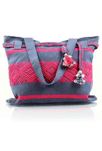 Handmade Gray Pink Waist Loom Handbag BAGS & POUCHES