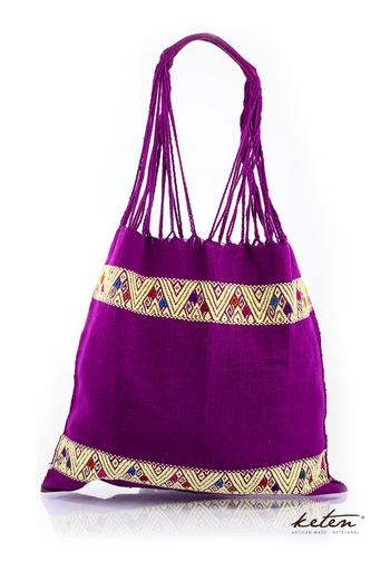 Boho Handwoven Cotton Purple Bag BAGS & POUCHES