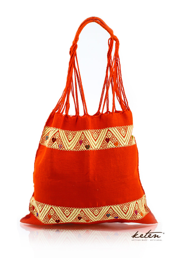 Mexican Tote / Boho Handwoven Cotton Bag BAGS & POUCHES