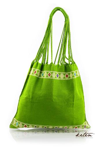 Boho Handwoven Cotton Green Bag BAGS & POUCHES