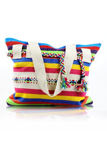 Mexican Folkart Mix Colors Waist Loom Handbag BAGS & POUCHES