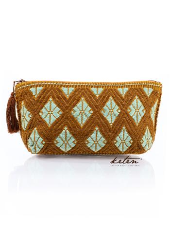 Brown Hand Pouch Boho Waist Loom BAGS & POUCHES
