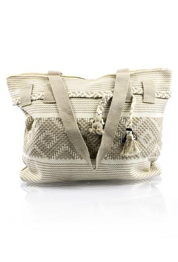 Mexican Boho Beige White Waist Loom Handbag BAGS & POUCHES