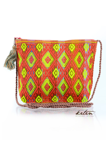 Red Shoulder Pouch Waist Loom BAGS & POUCHES