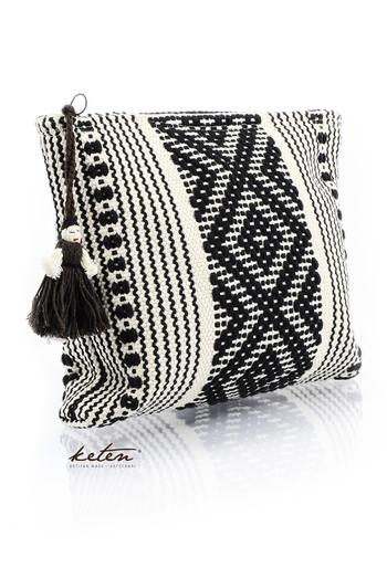 Handmade Black Waist Loom Pouch Folkart BAGS & POUCHES