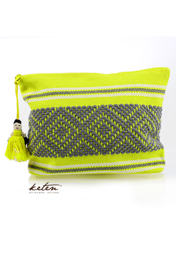 Yellow Handmade Waist Loom Pouch BAGS & POUCHES