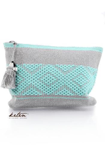 Handmade Gray Waist Loom Pouch Folkart BAGS & POUCHES