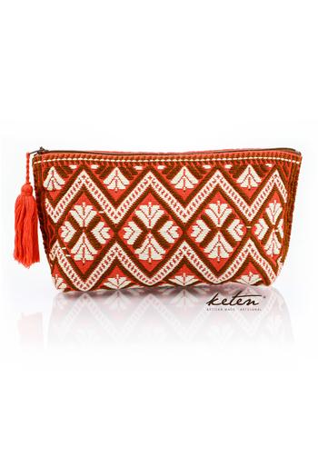 Red Folk Art Waist Loom Pouch BAGS & POUCHES