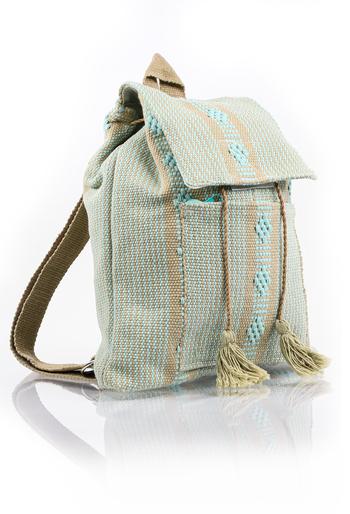 Mexican Folkart Aqua Backpack HandMade BAGS & POUCHES