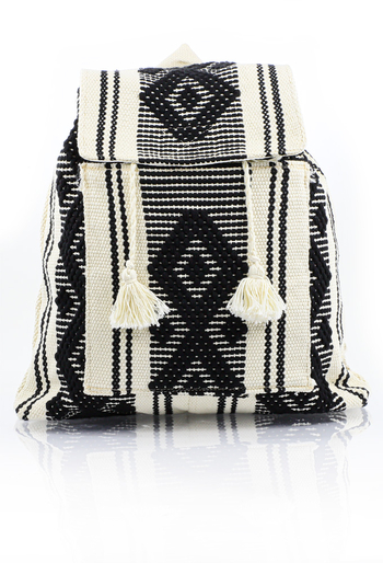 Mexican Folkart Black Backpack HandMade BAGS & POUCHES